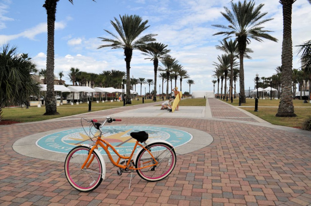 Biking in Jacksonville Beach, Florida.