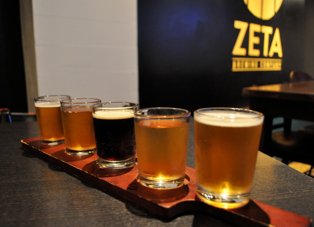 Zeta Brewing beer sampler