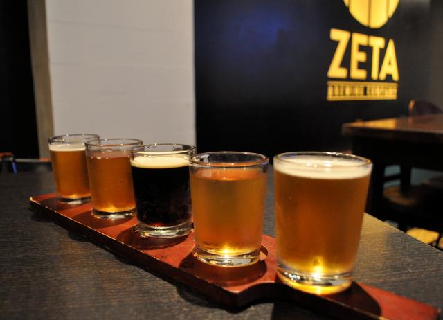 Zeta Brewing beer sampler