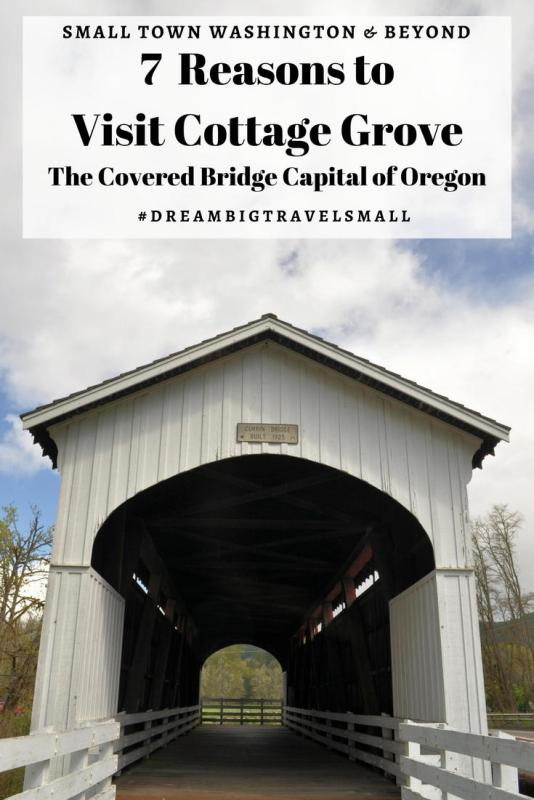 Covered bridge in Cottage Grove, Oregon.
