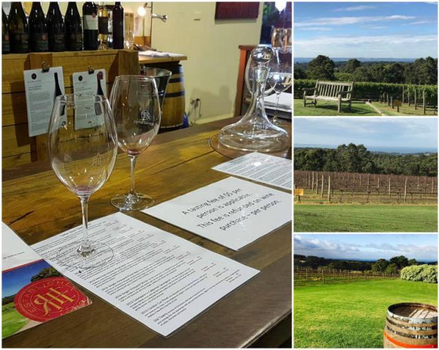 Wineries in Mornington Peninsula in Victoria, Australia.