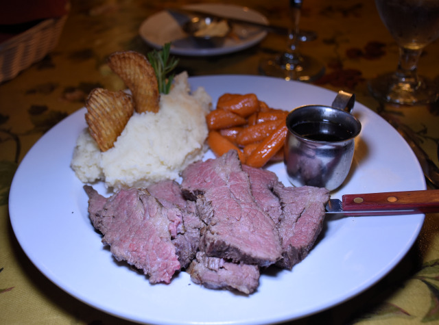 Tri-tip special at Seasons on the Green Restaurant.