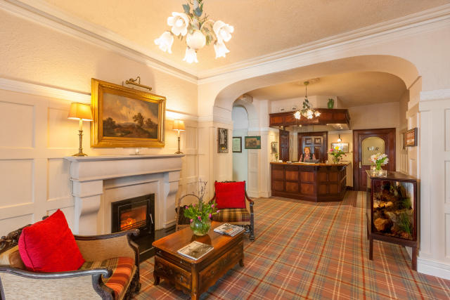 The lobby at the Butler Arms Hotel in Waterville, Ireland.