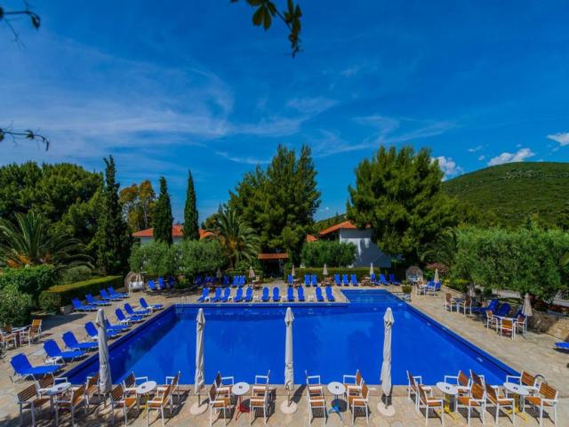The pool at the Philoxenia Hotel in Halkidiki Greece.