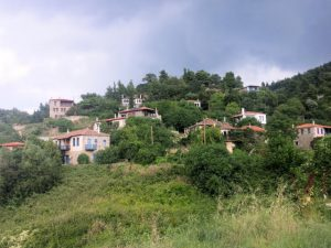 The traditional village of Parthenonas in Greece.