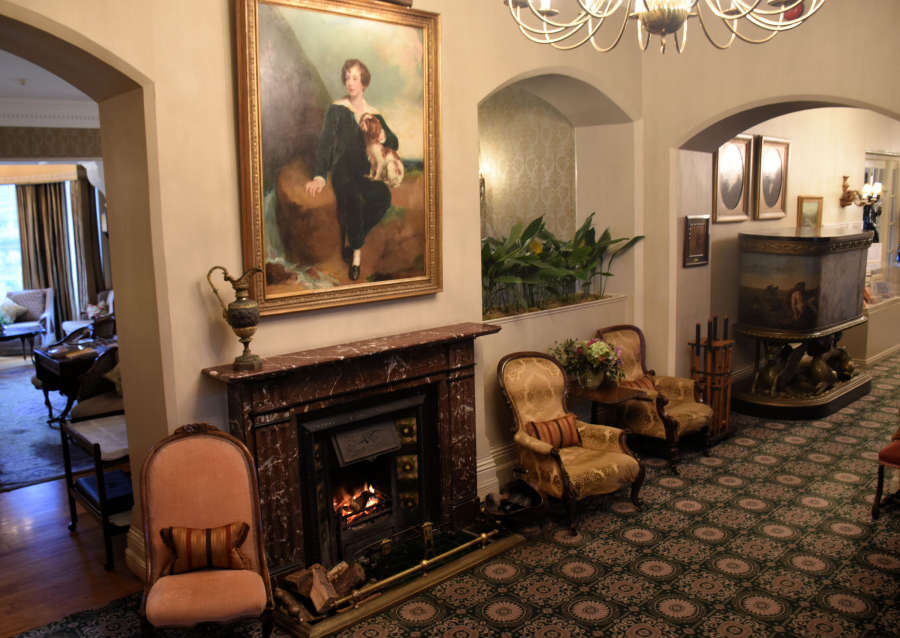 Hotel lobby at the Park Hotel Kenmare in Kenmare, Ireland.