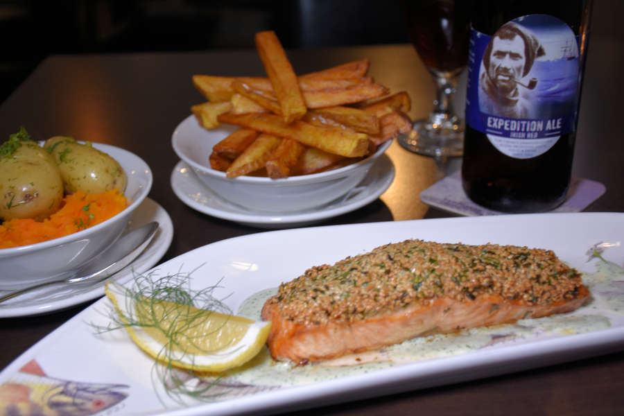 Atlantic salmon at Tom Crean Fish & Wine & Accommodation in Kenmare, Ireland.