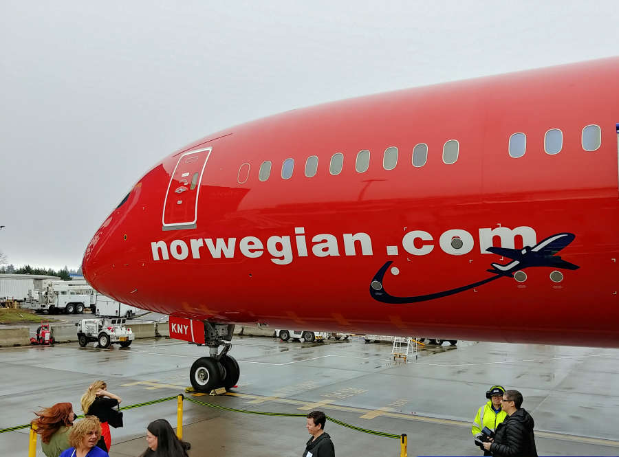 Norwegian Airlines at SeaTac International Airport.
