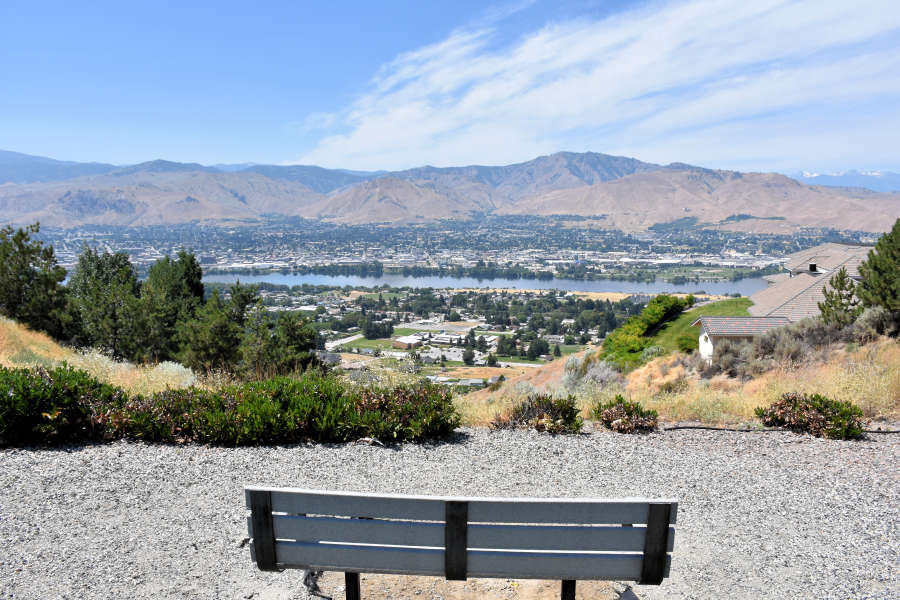 View of Wenatchee, Washington.