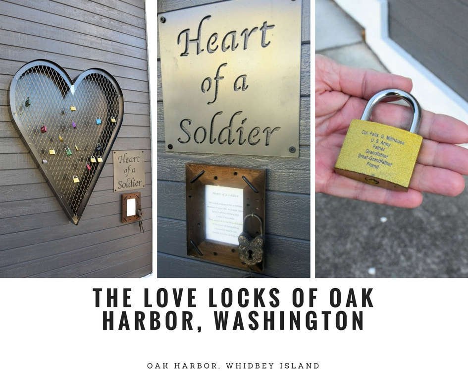 Love locks for military in Oak Harbor, Washington.