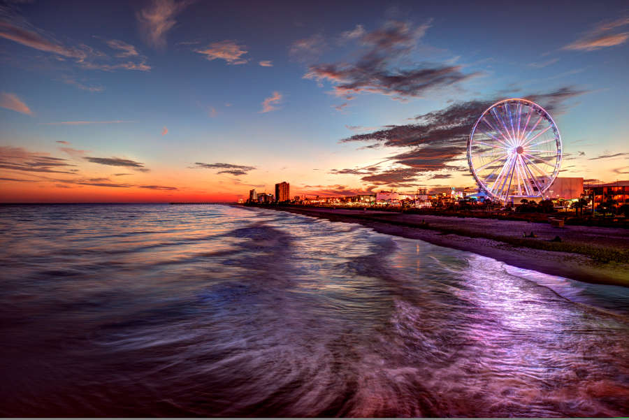 Myrtle Beach South Carolina sunset.