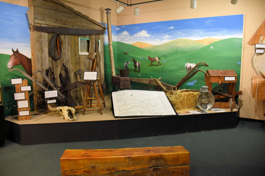 Displays at the Appaloosa Museum in Moscow, Idaho.