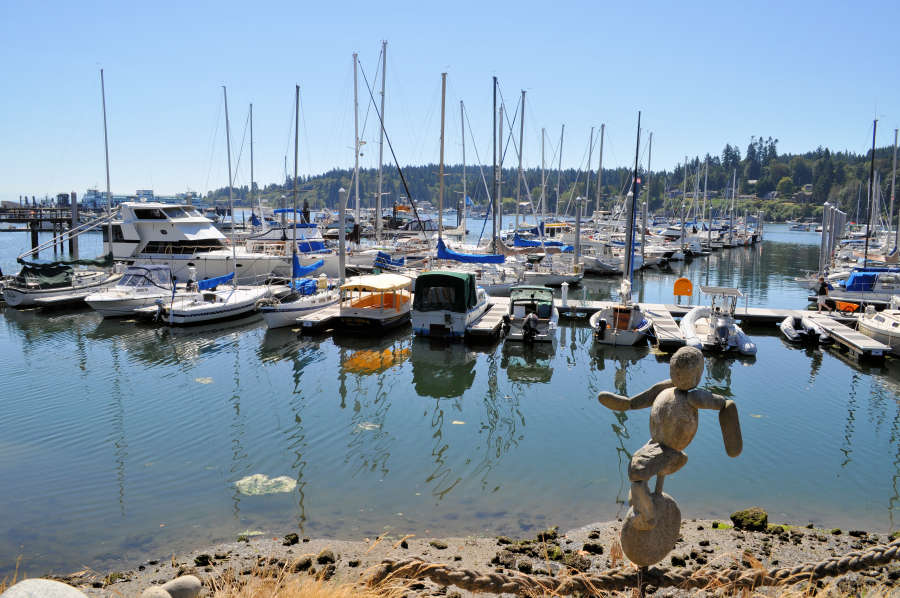A marina on Bainbridge Island.