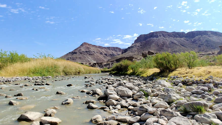 The Rio Grande in Big Bend Ranch State Park in Texas.