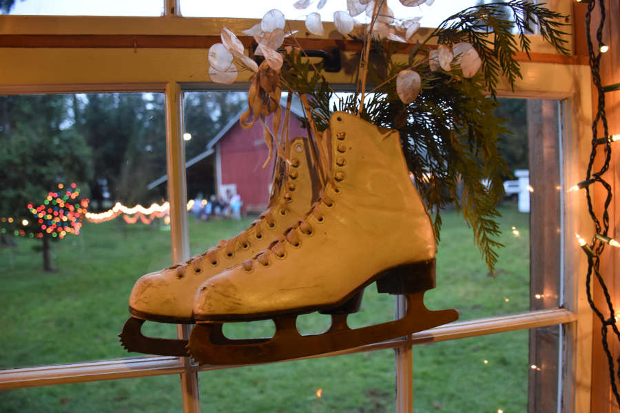 Ice skates at Pioneer Park in Ferndale, Washington.