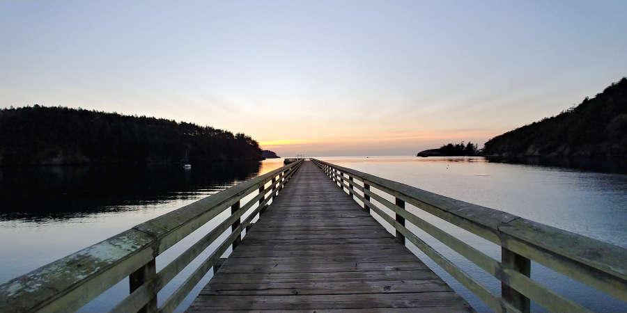 The pier at Bowman Bay.