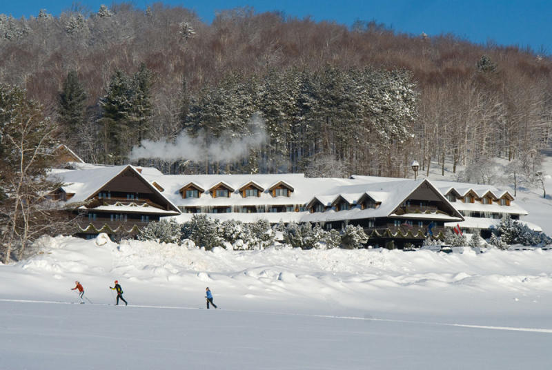 Winter at the von Trapp Family Lodge.
