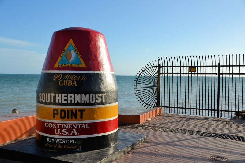 Southern most point market in Key West, Florida.
