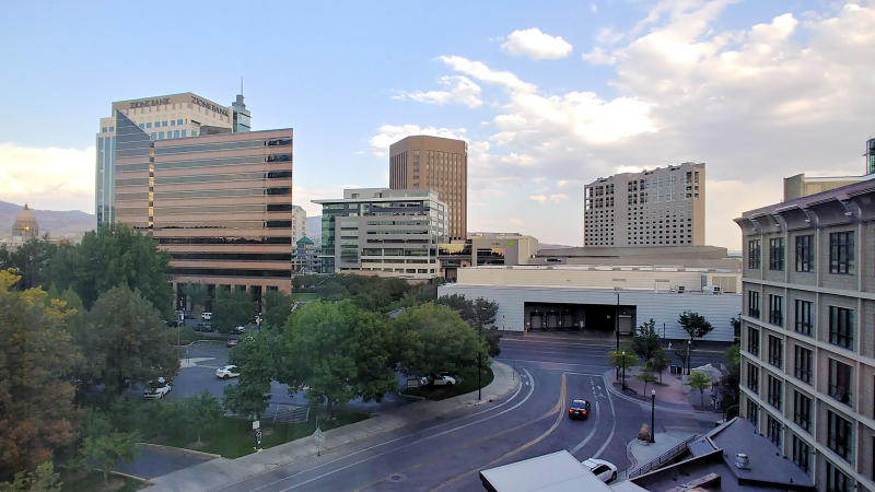 The view from the Hotel 43 in Boise, Idaho.
