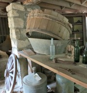 The cellar exhibits items that would have been used during the period of the Whim Estate but it was originally used to store food rations.