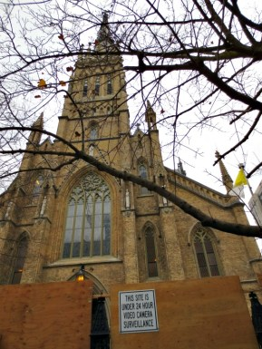St. Michael's Cathedral construction 2015 24 hour surveillance
