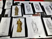 St. Michael's Cathedral wood statues on paper