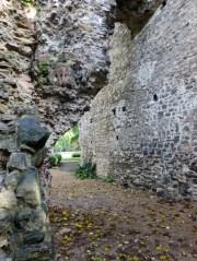Budapest Margaret Island church ruins between walls