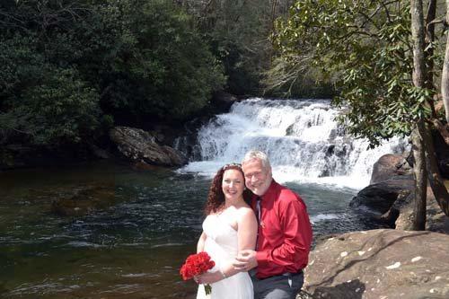 Dick's Creek Waterfall ceremony site
