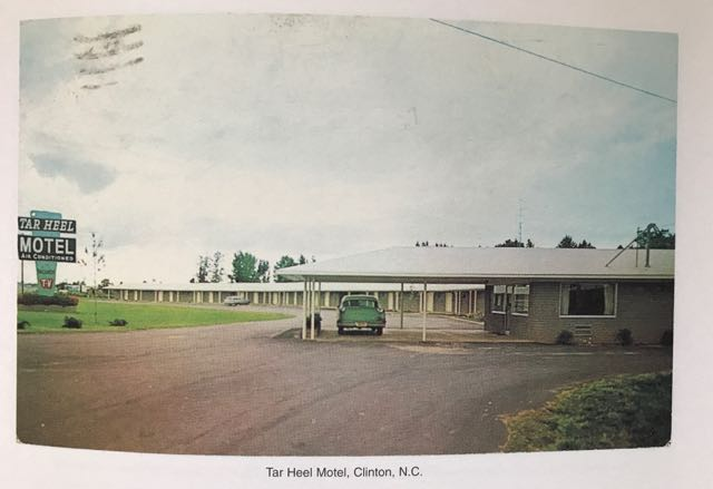 photo of a page from Martin Parr's 'Boring Postcards - USA'. photo of a motel.