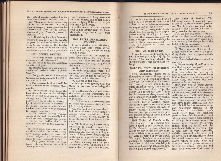 sample content pages from 1939 edition of Enquire Within Upon Everything (pages 365 and 365)