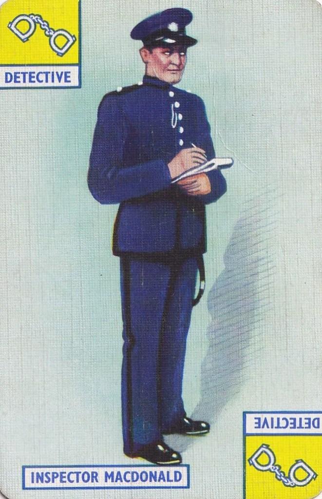 playing card - drawing of Inspector Macdonald