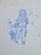 stokes croft monoprint - man&dog