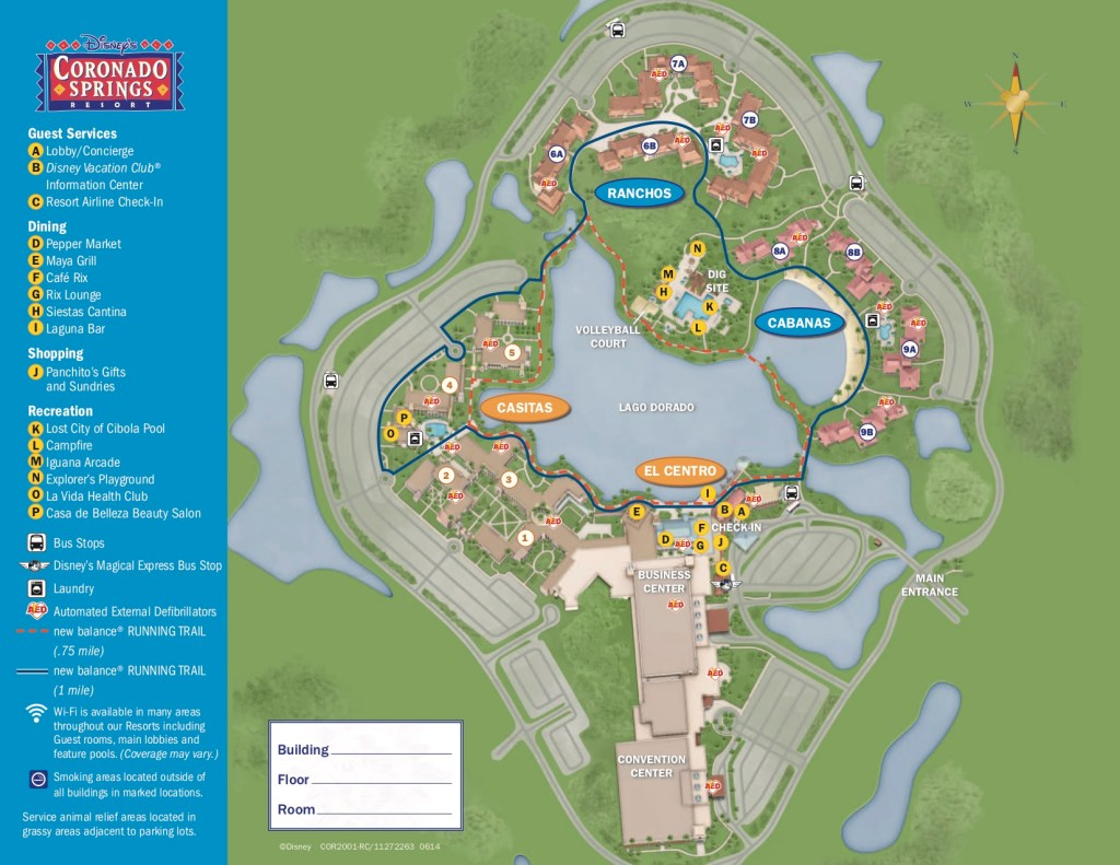 Disney's Coronado Springs Resort Map 1