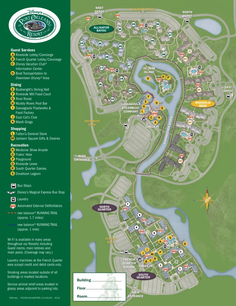 Disney's Port Orleans Resort - Riverside Map 1
