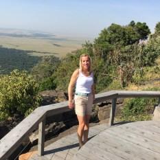 Anita with Angama view