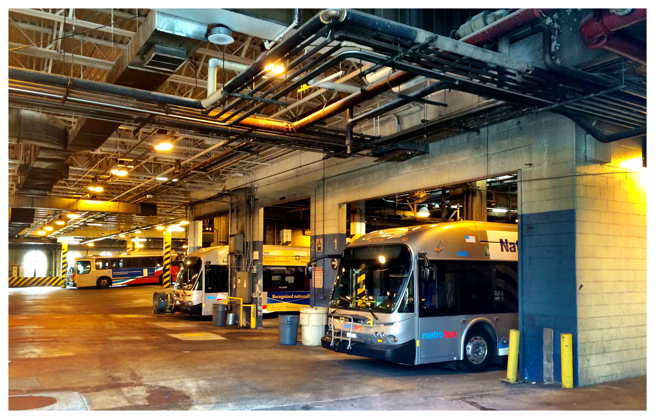 Metrobus Northern Division garage on 14th Street, NW in Washington DC