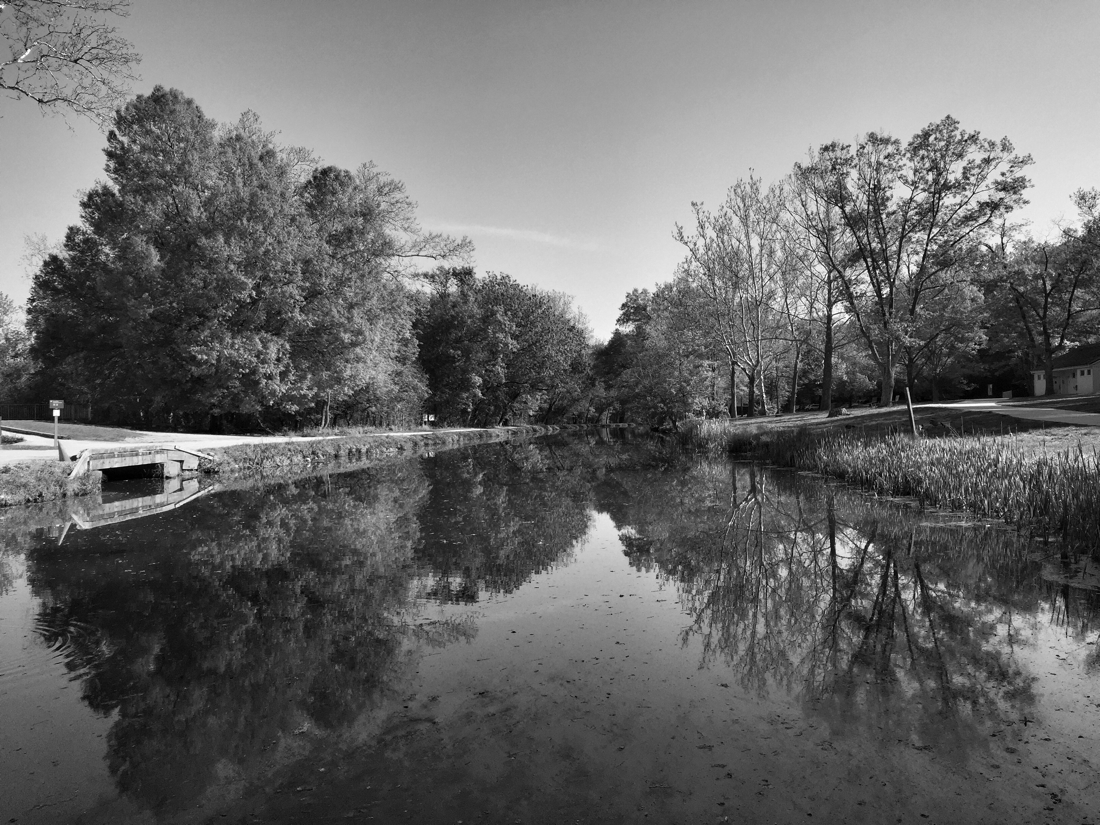 The C & O Canal in Potomac, Maryland