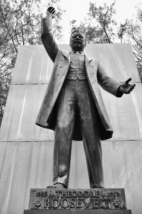 Statue of President Roosevelt on Roosevelt Island in Washington DC