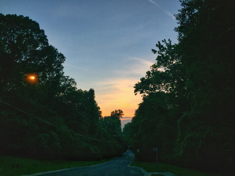 Sunset over Kent Street in Kensington, Maryland