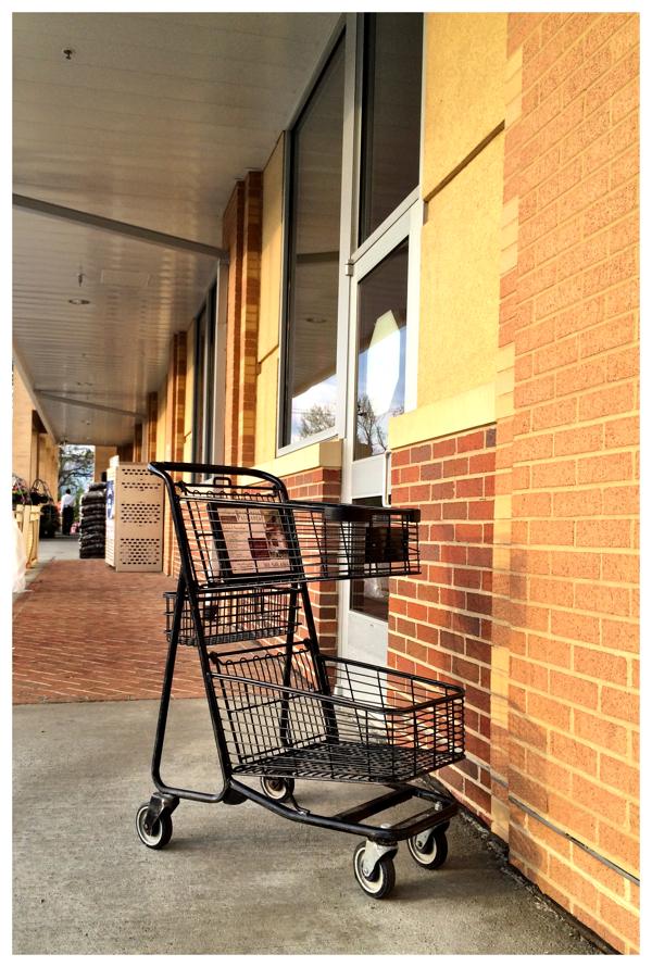 Shopping cart outside Safeway in Kensington, Maryland