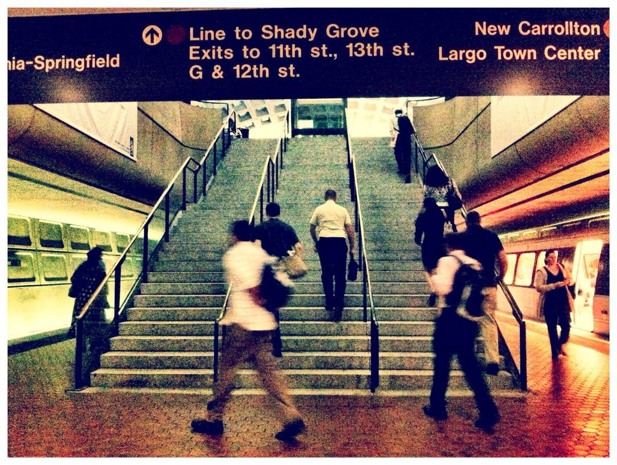 Metro Center station in Washington DC