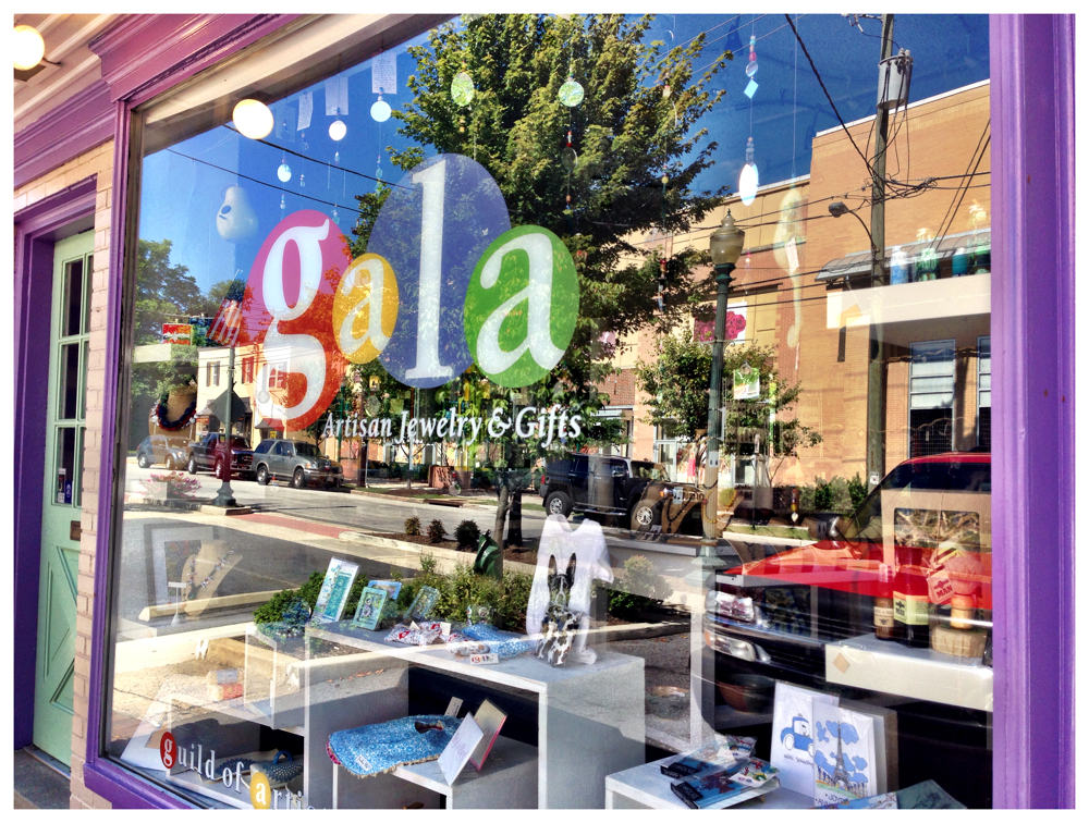 Reflection in the window of the Gala store in Kensington, Maryland