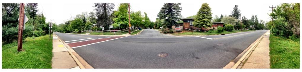 Intersection of Kensington Parkway and Washington Street in Kensington, Maryland