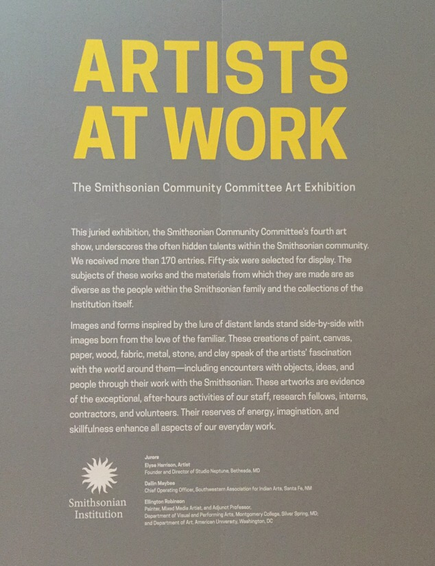 Exhibition of employee art from the Smithsonian Institution at the S. Dillon Ripley Center in Washington DC