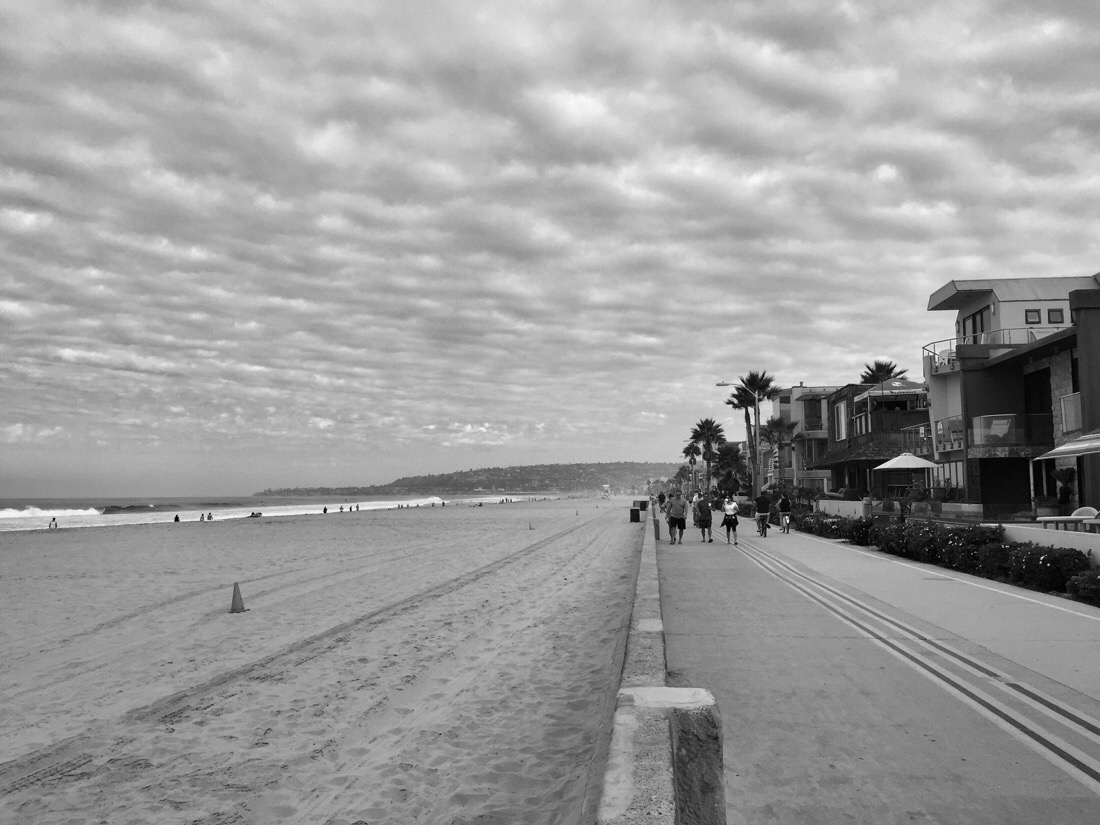 the boardwalk on mission beach in san diego, ca
