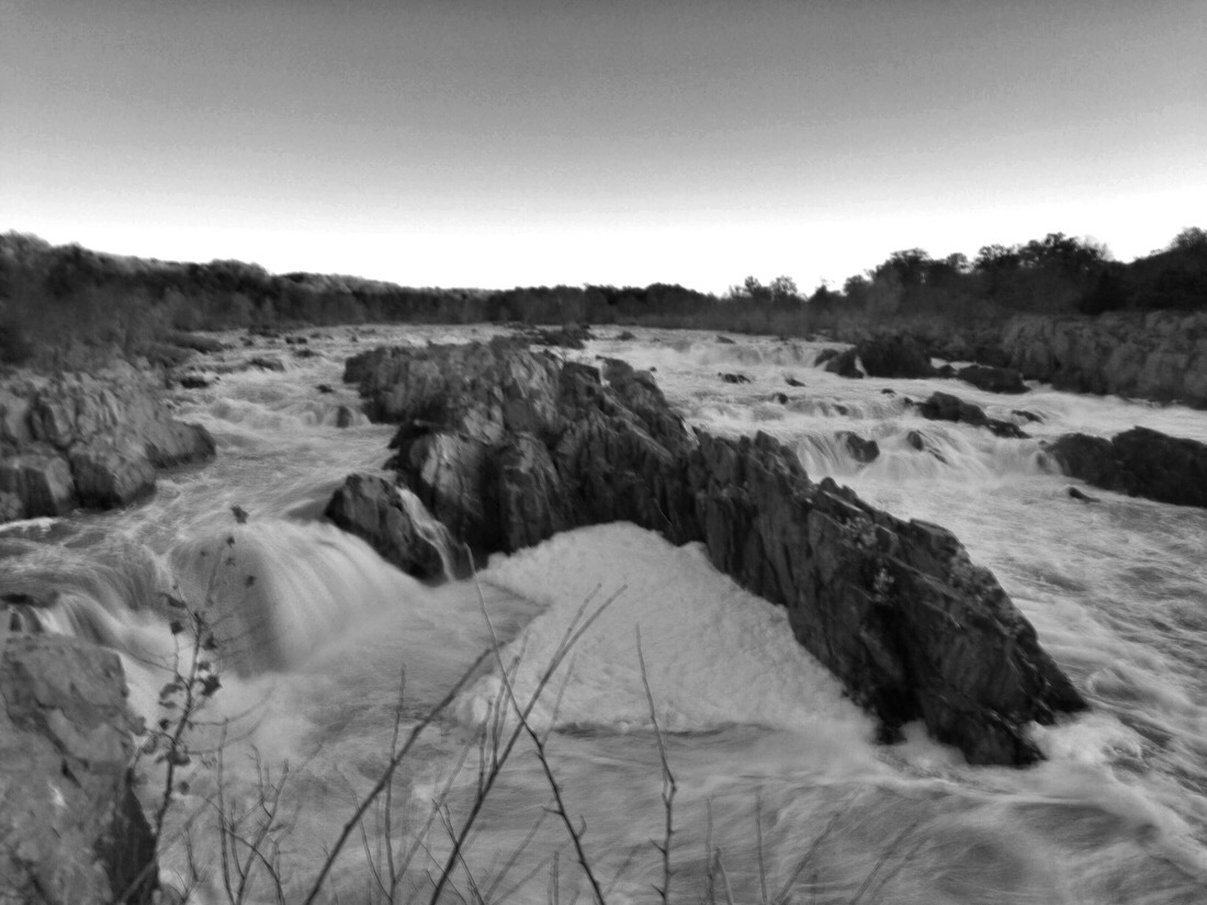 sunrise at great falls park in virgina