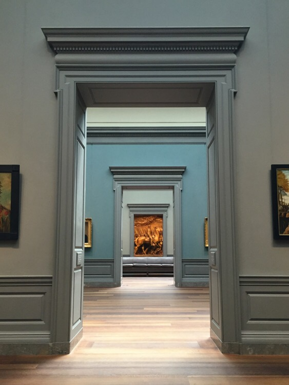 enjoying the art at the national gallery of art in washington dc