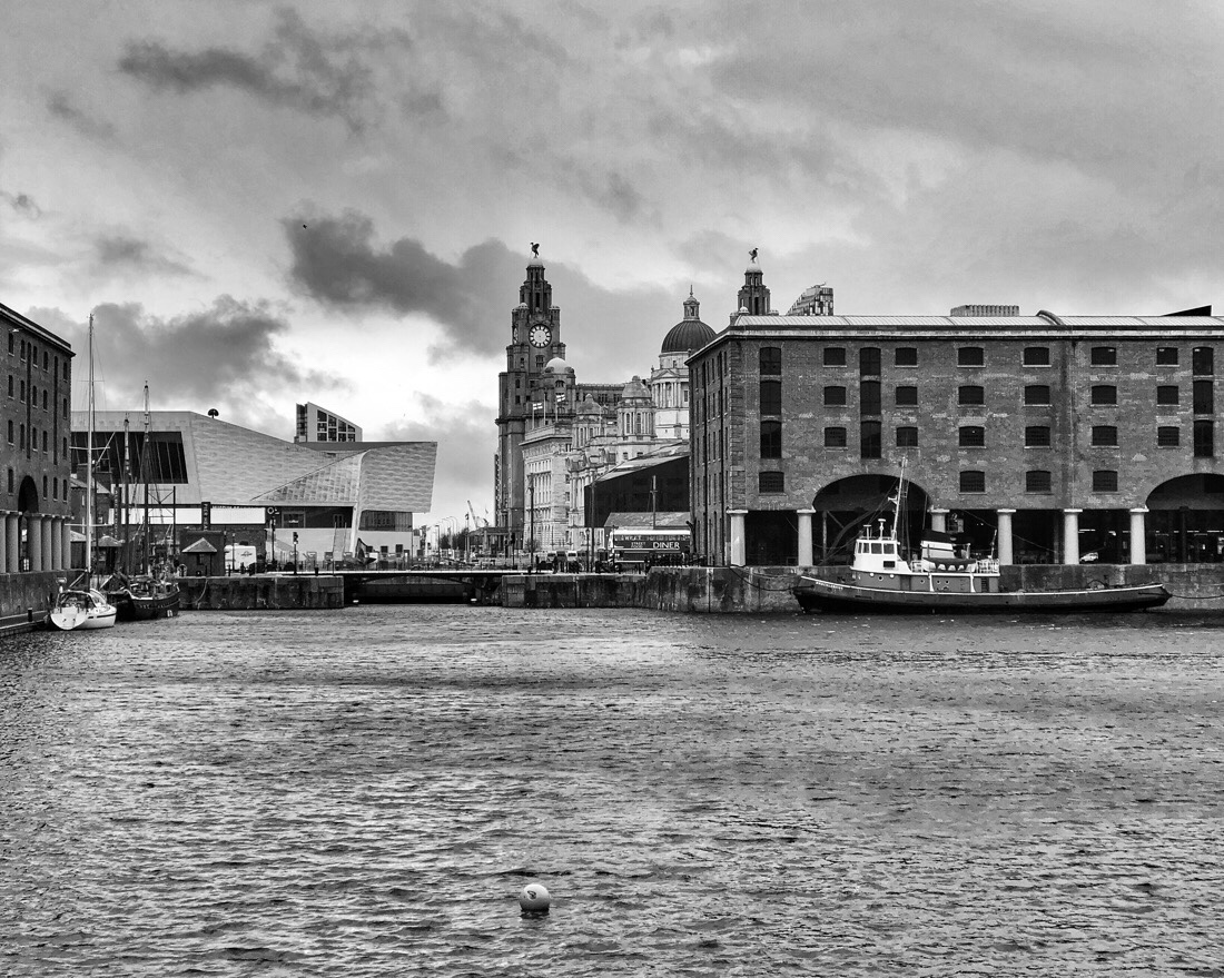 The pier head, Albert dock and River Mersey in Liverpool