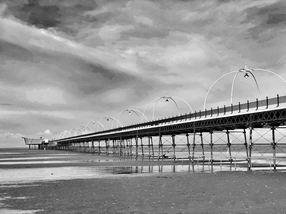 Walking along the Southport Pier