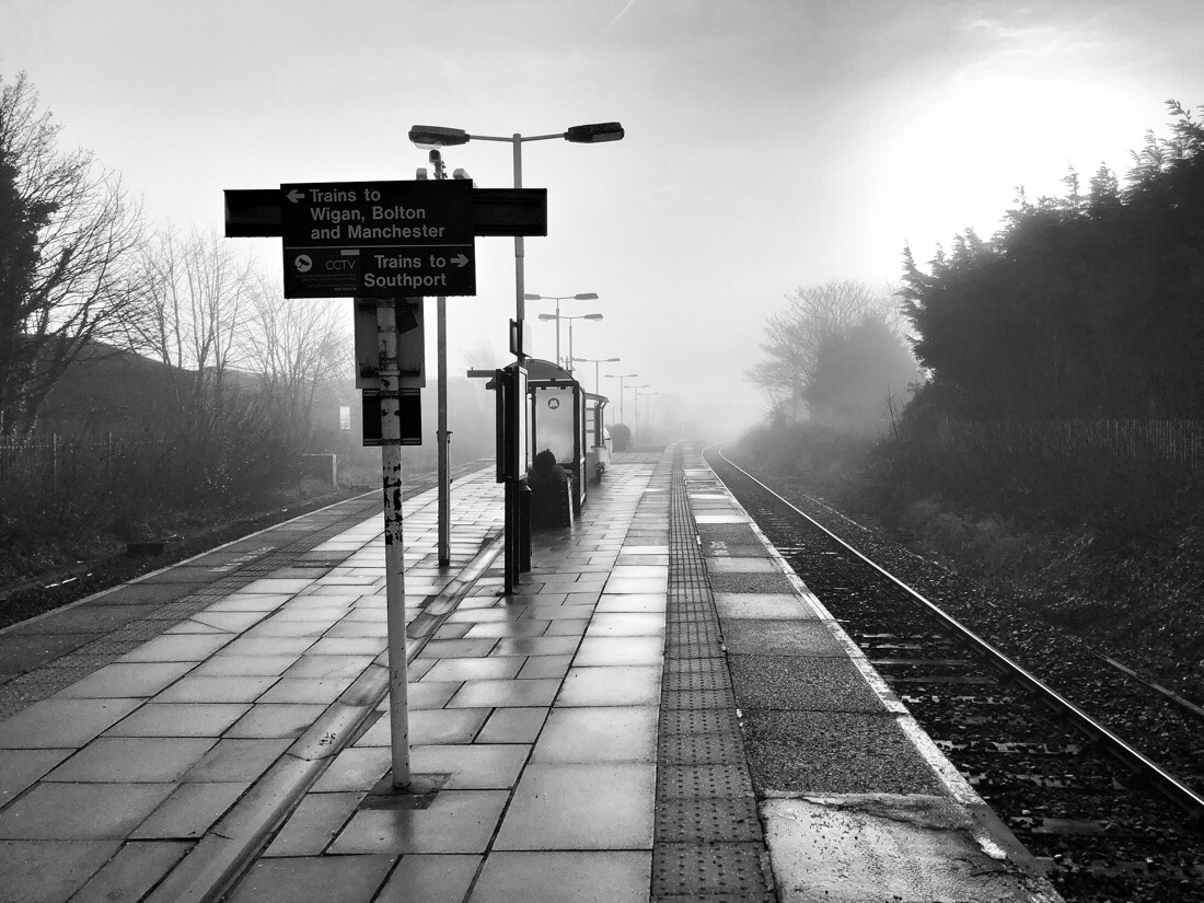 Meols cop railway station on the northern and west Lancashire lines in Southport.